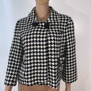 Last Kiss women jacket size L black & white